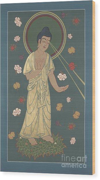 The Amitabha Buddha Descending 247 Wood Print