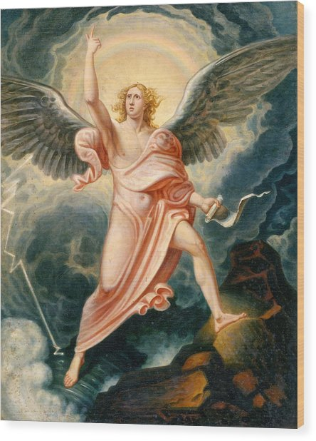 The Angel Proclaiming The End Of Time Wood Print