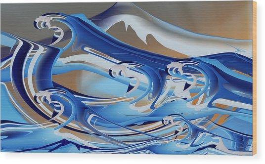 The Angry Sea Wood Print
