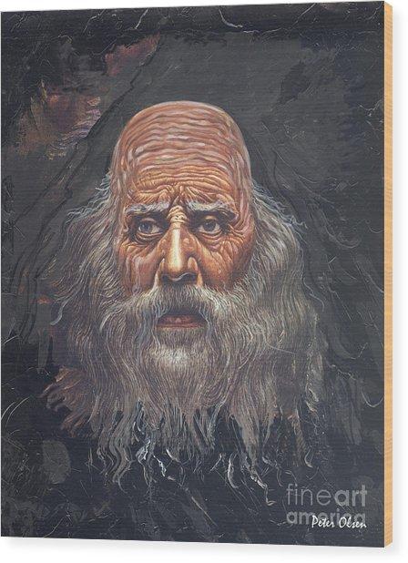 The Apostle John Wood Print by Peter Olsen