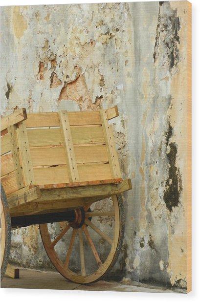 The Apple Cart Wood Print