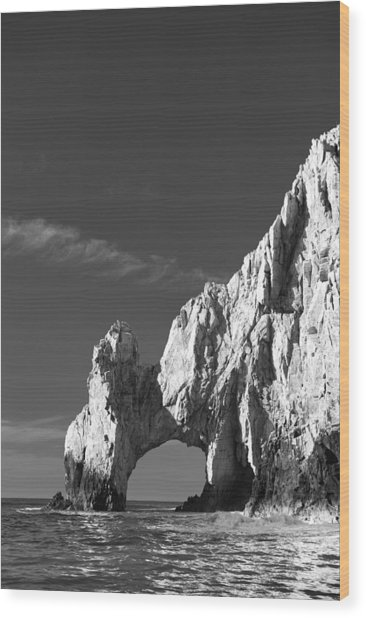 The Arch In Black And White Wood Print