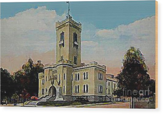 The Armory In White Plains Ny 1923 Wood Print by Dwight Goss