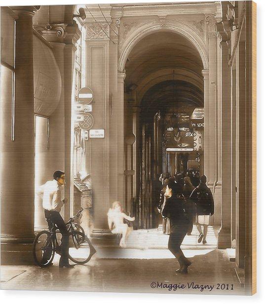 The Art Of Love Italian Style Wood Print