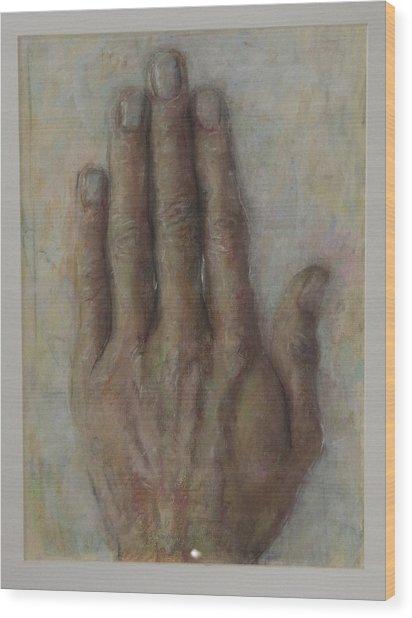 The Artist Hand Wood Print