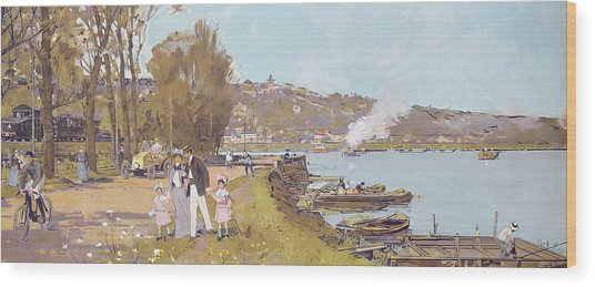 The Attractions Of A Visit To The Parisian Suburb Of Athis-mons With The 'chemins Wood Print