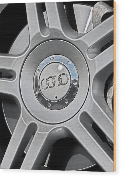 The Audi Wheel Wood Print