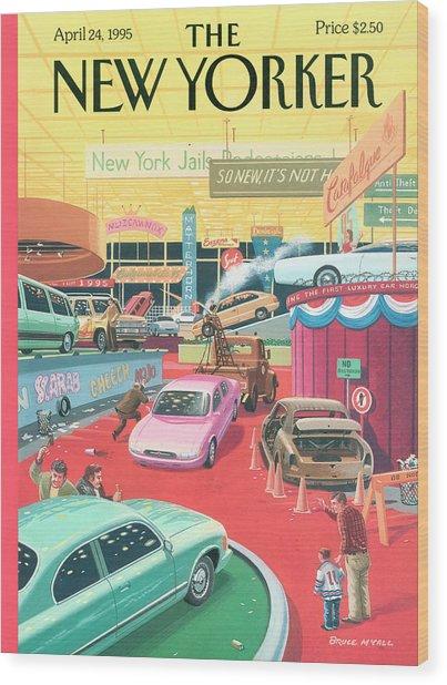 The Auto Show Wood Print