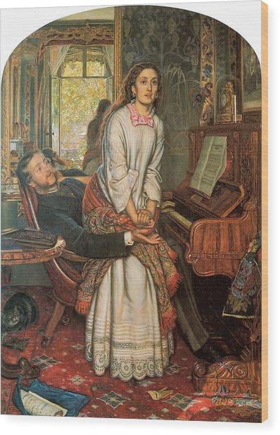 The Awakening Conscience Wood Print by William Holman Hunt