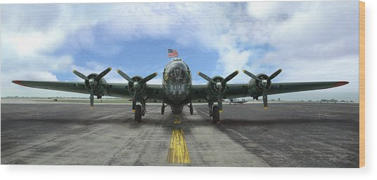 The B17 Flying Fortress Wood Print