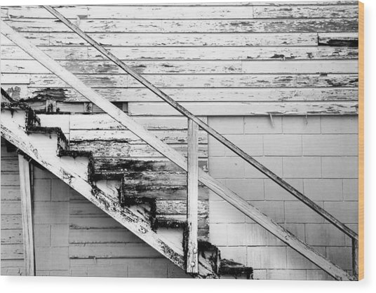 The Back Stairs Wood Print