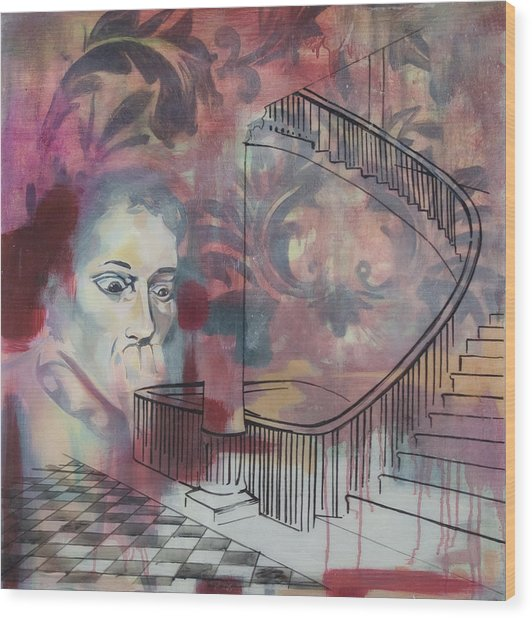 The Back Stairs Wood Print by Stacey Sherman