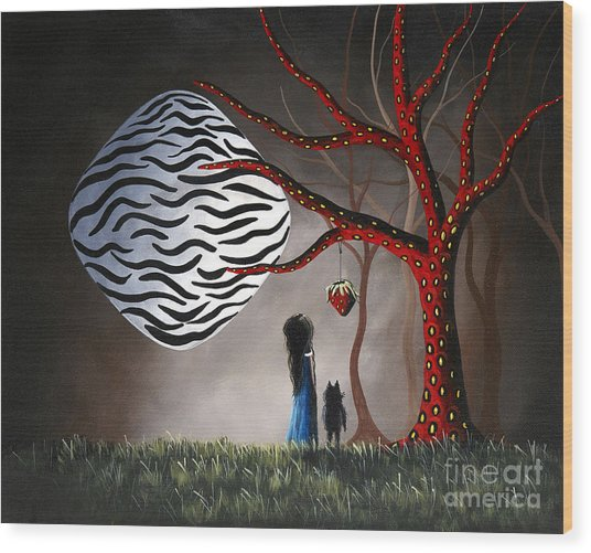 The Bait By Shawna Erback Wood Print by Erback Art