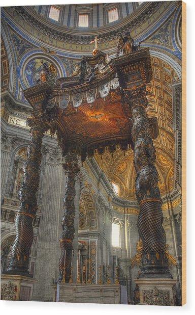 The Baldaccino Of Bernini Wood Print