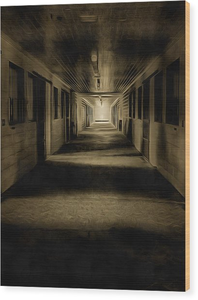 The Barn Aisle Wood Print