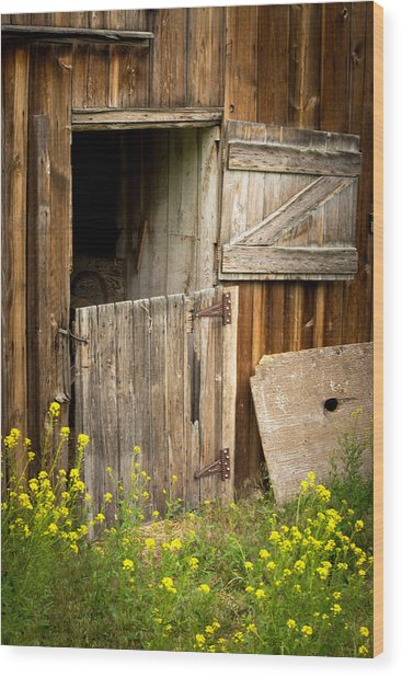 The Barn Door Wood Print