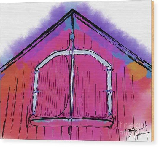 The Barn Door Wood Print