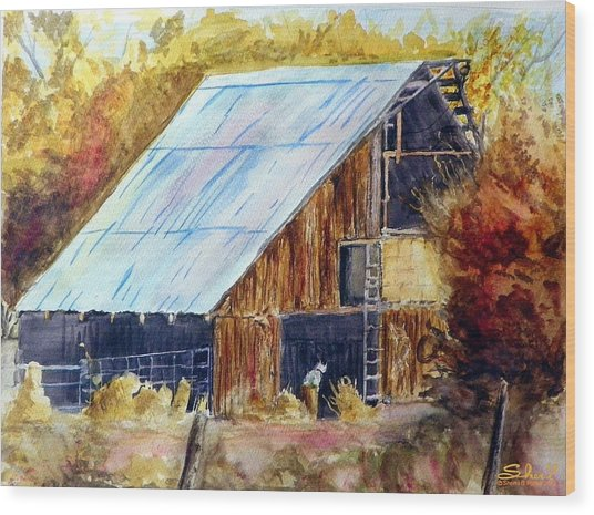 The Barn Mouser Wood Print