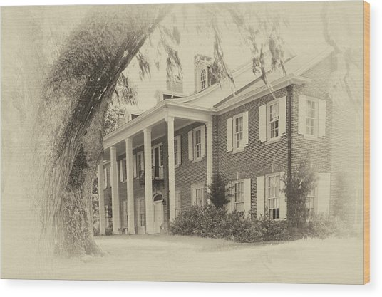 The Baruch House Wood Print