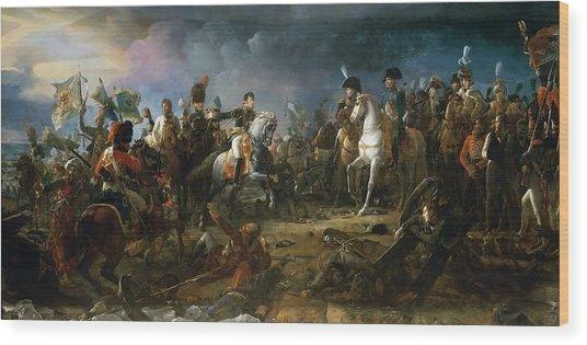 The Battle Of Austerlitz Wood Print