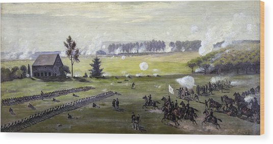 the Battle of Gettysburg Wood Print