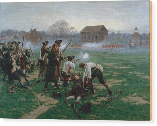 The Battle Of Lexington, 19th April 1775 Wood Print