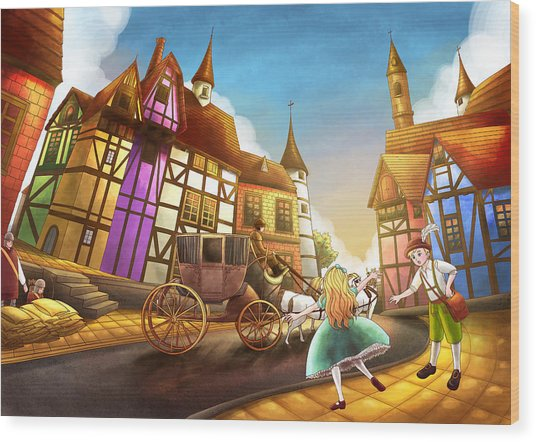 The Bavarian Village Wood Print