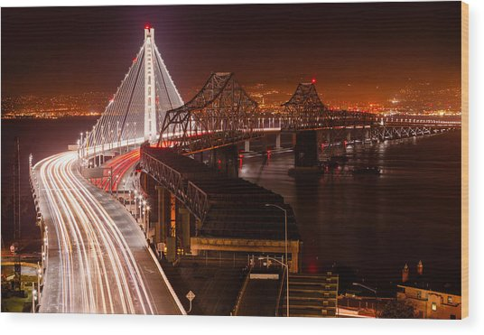 The Bay Bridges Wood Print