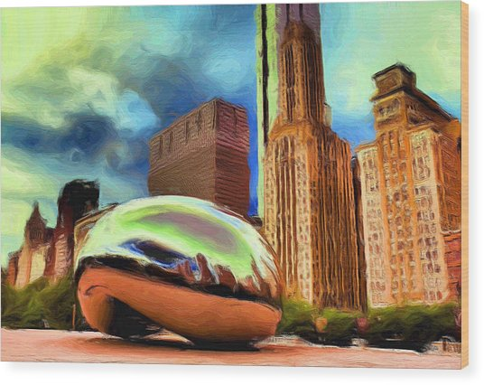 The Bean - 20 Wood Print