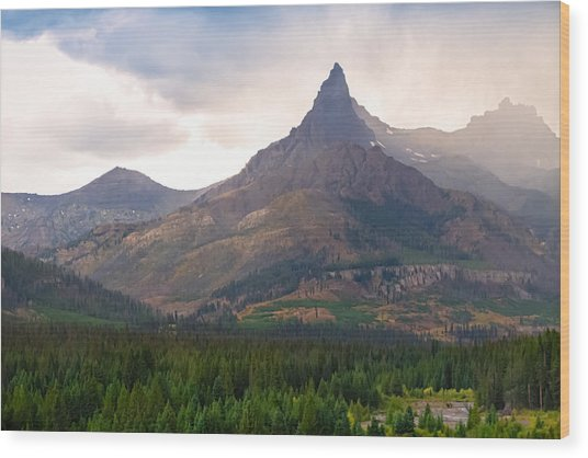 The Beartooth Mountains   Wood Print