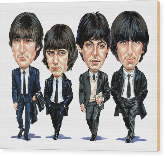 The Beatles Wood Print