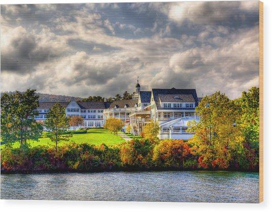 The Beautiful Sagamore Hotel On Lake George Wood Print