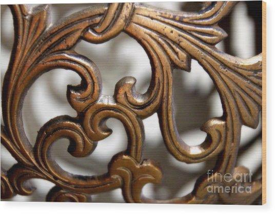 The Beauty Of Brass Scrolls 1 Wood Print