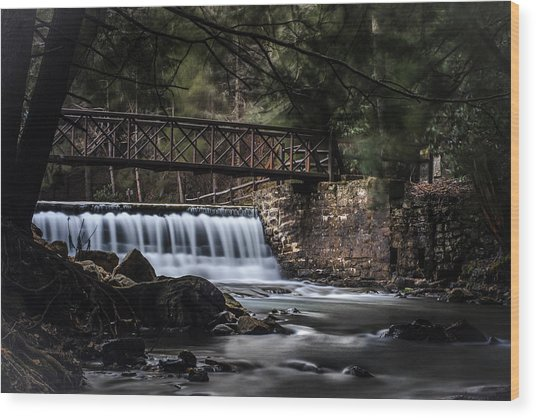 The Beauty Of Clear Creek Wood Print