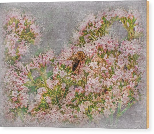 The Bee Wood Print