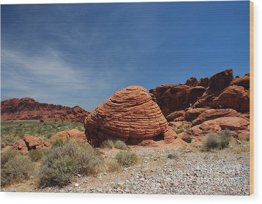 515p The Beehive In Valley Of Fire Wood Print
