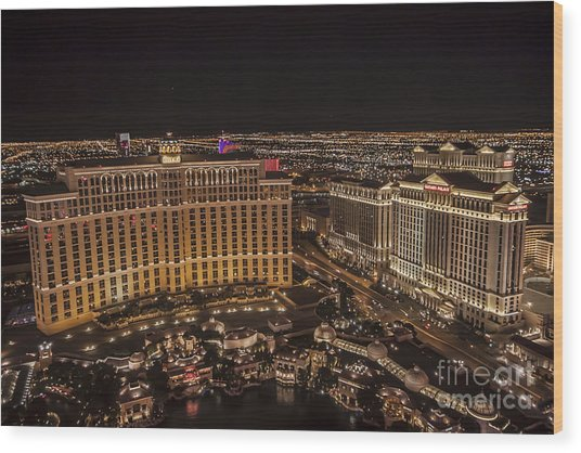 The Bellagio Casino Wood Print
