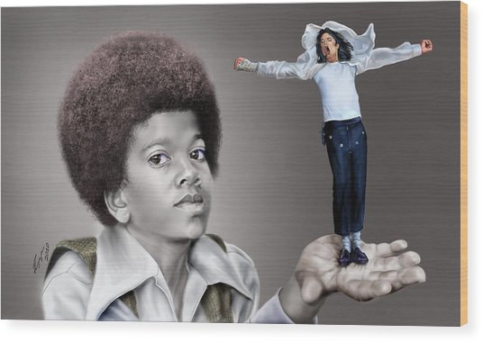 The Best Of Me - Handle With Care - Michael Jacksons Wood Print