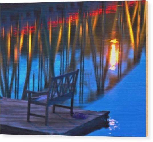 The Bidge At Sunset Wood Print