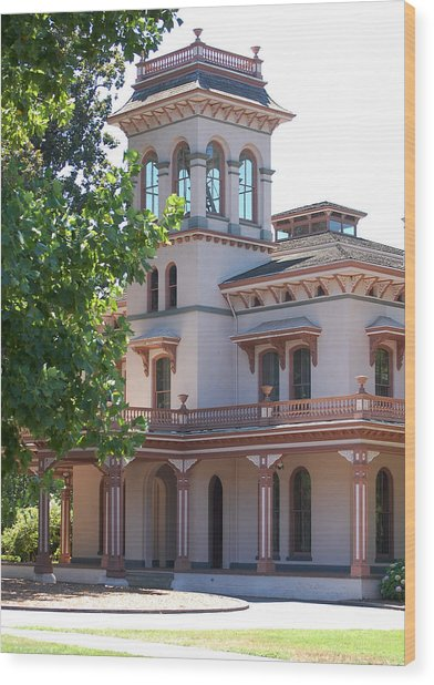 The Bidwell Mansion Wood Print