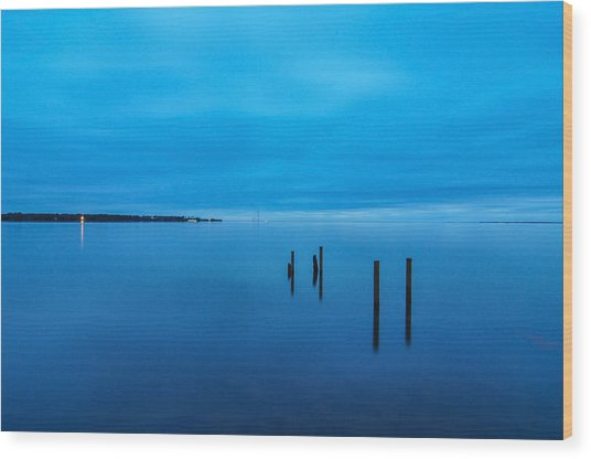 The Big Blue Wood Print by Donnie Smith