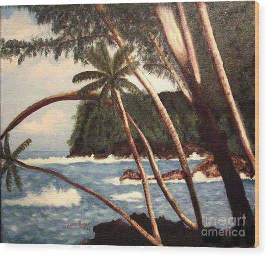 The Big Island Wood Print