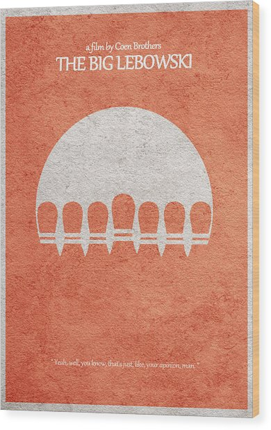 The Big Lebowski Wood Print