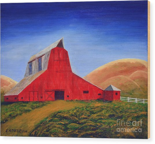 The Big Red Barn Wood Print