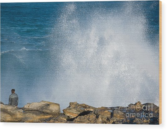 The Big Wave Wood Print