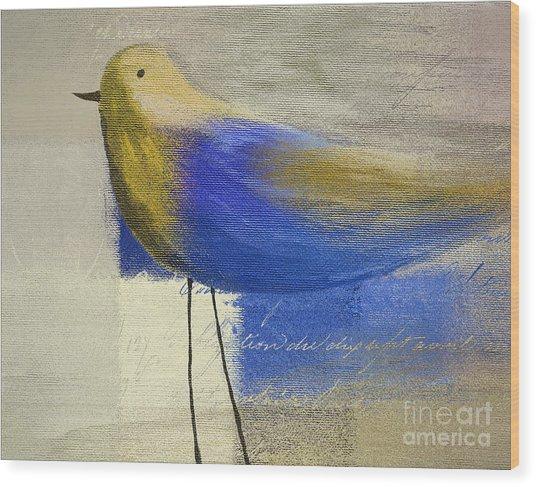 The Bird - J100124164-c21 Wood Print