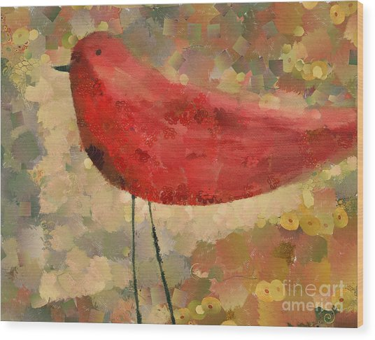 The Bird - K04d Wood Print