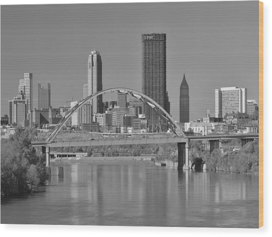 The Birmingham Bridge In Pittsburgh Wood Print