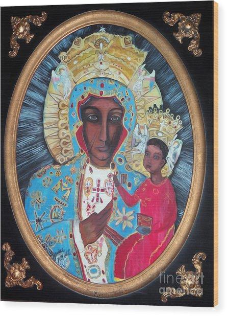 The Black Madonna Wood Print
