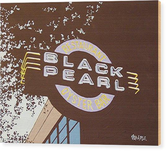 The Black Pearl In Midtown Wood Print by Paul Guyer